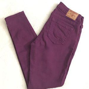 True Religion skinny purple jeans